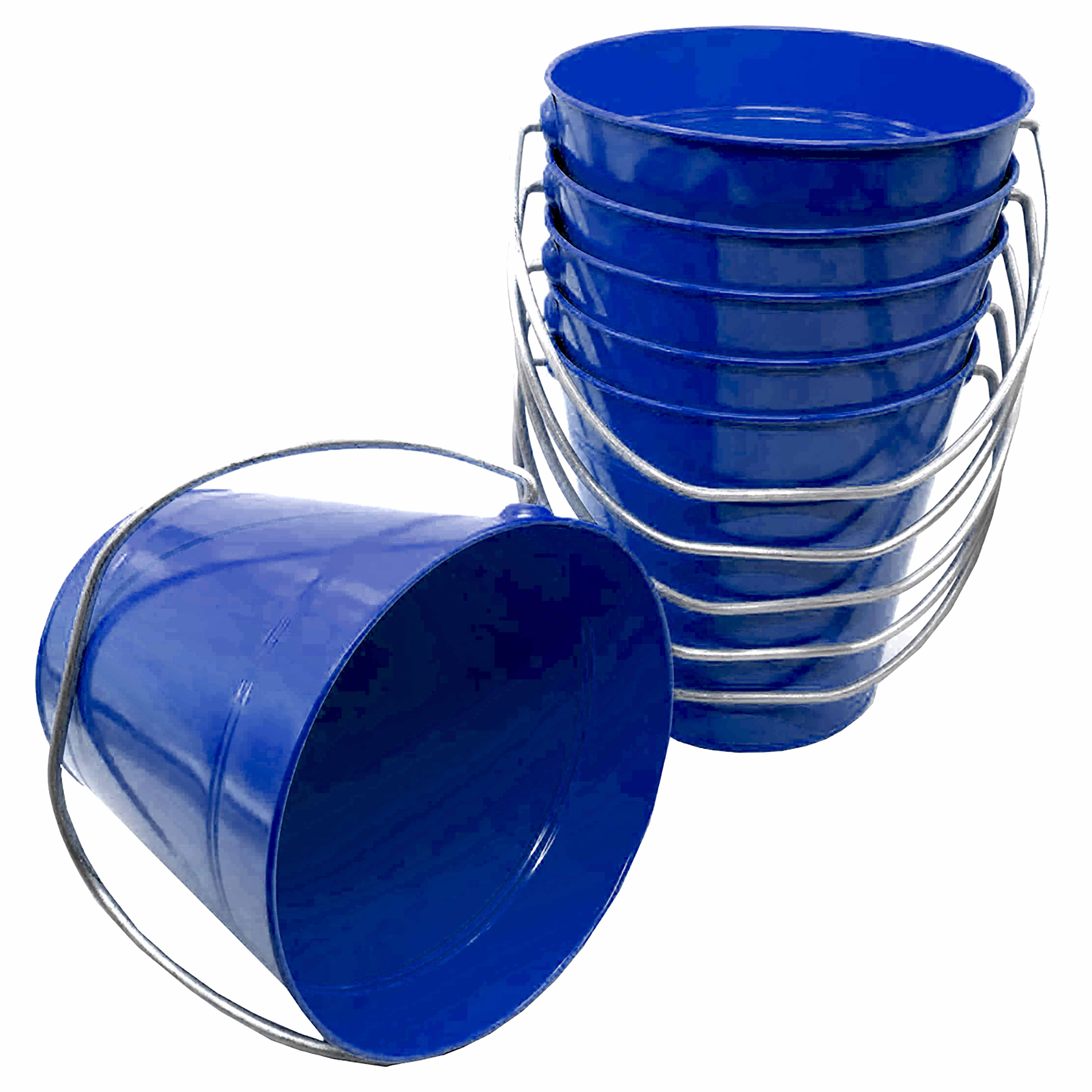 Metal Bucket Royal Blue 7.5 x 7.5""