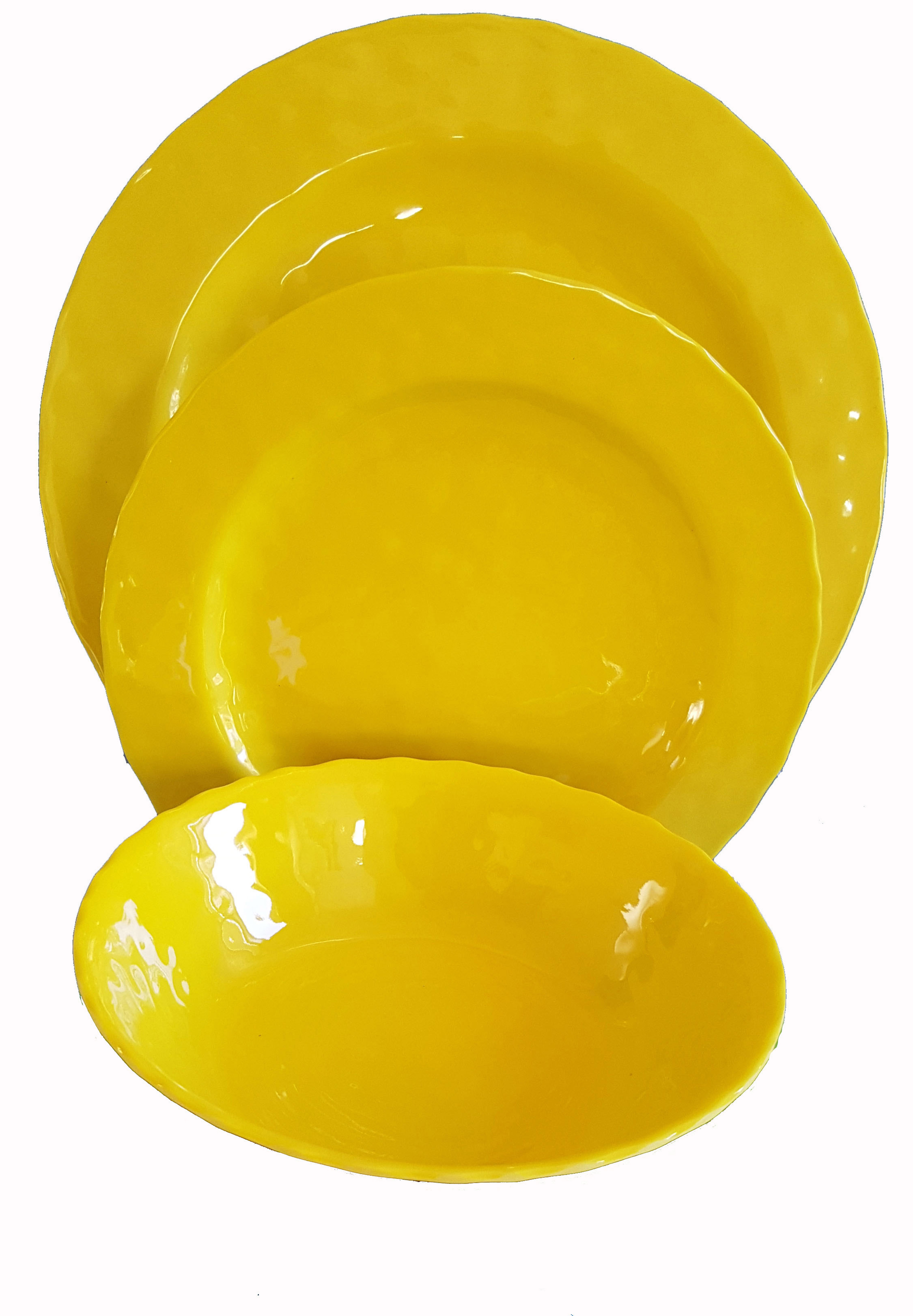 "3 pc 11"" MELAMINE SET YELLOW"