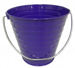 Metal Bucket Purple 7.5 x 7.5""