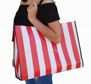 tote Bags Red  and white stripes Size 18x15x7""