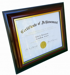 "8.5 x 11"" PS Document frame 2 ton Brown and Black"