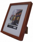 "8x10"" wood Frame SQ Brown"
