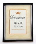 "8.5"" x 11"" DP Document Frame Black,"