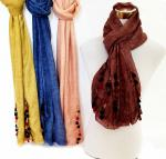 Fashion Scarves  4 colors assorted 70 x 180cm